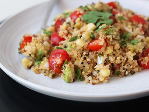 Toasted quinoa salad with jalapeno-lime dressing | by Ashlae | oh, ladycakes