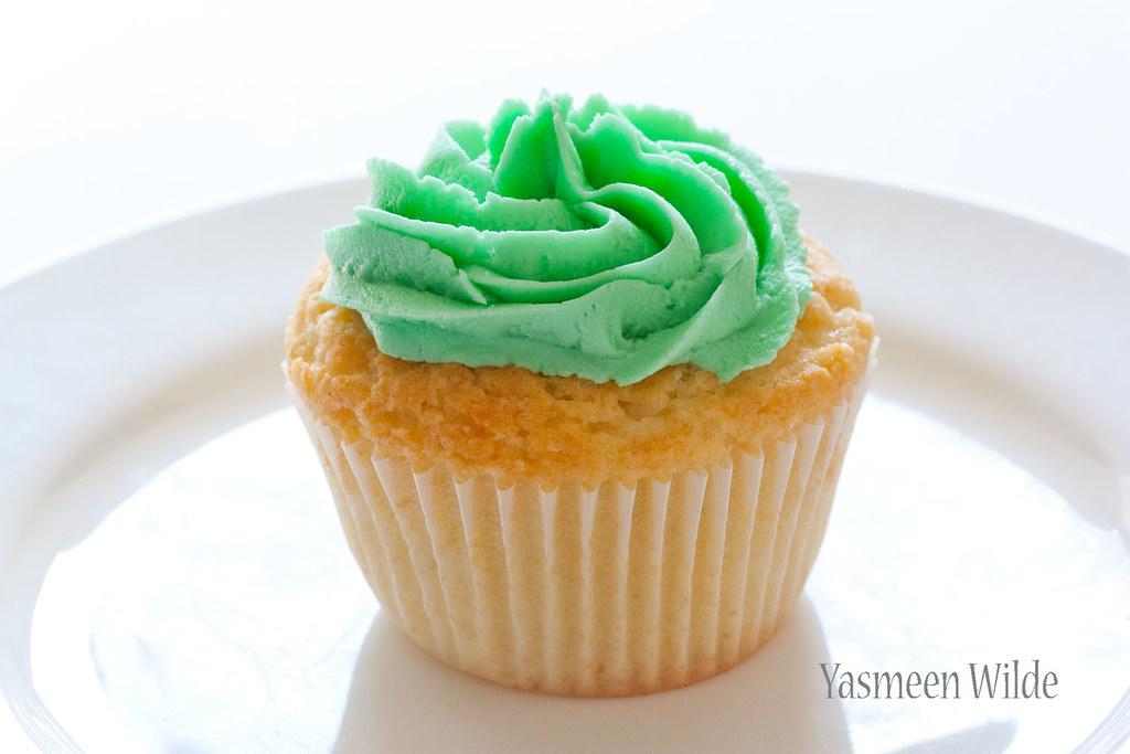 Green Cake Cupcake