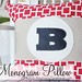 Custom Monogram Pillow