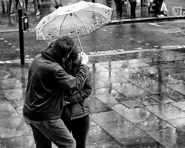 Kissing In The Rain | Flickr - Photo Sharing!
