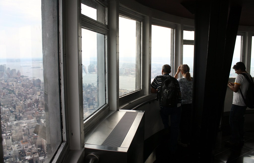 View from the 102nd floor of the empire state building for 102nd floor