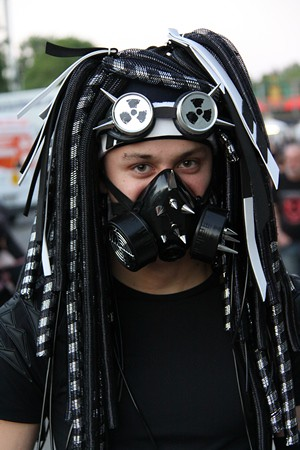 Cyber Goth Man In Mask Taken At Wave Gotik Treffen 25 28