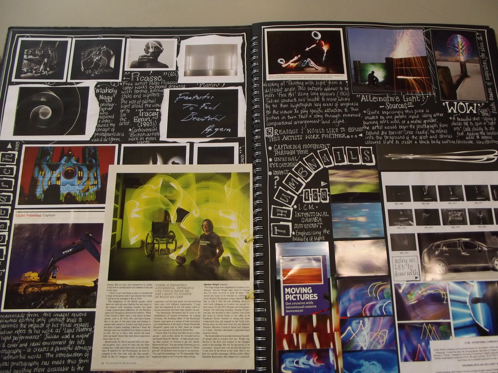 Bursting the bubble writing: Sketchbook advice for GCSE photographers