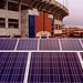 Solar panels on stadium garage