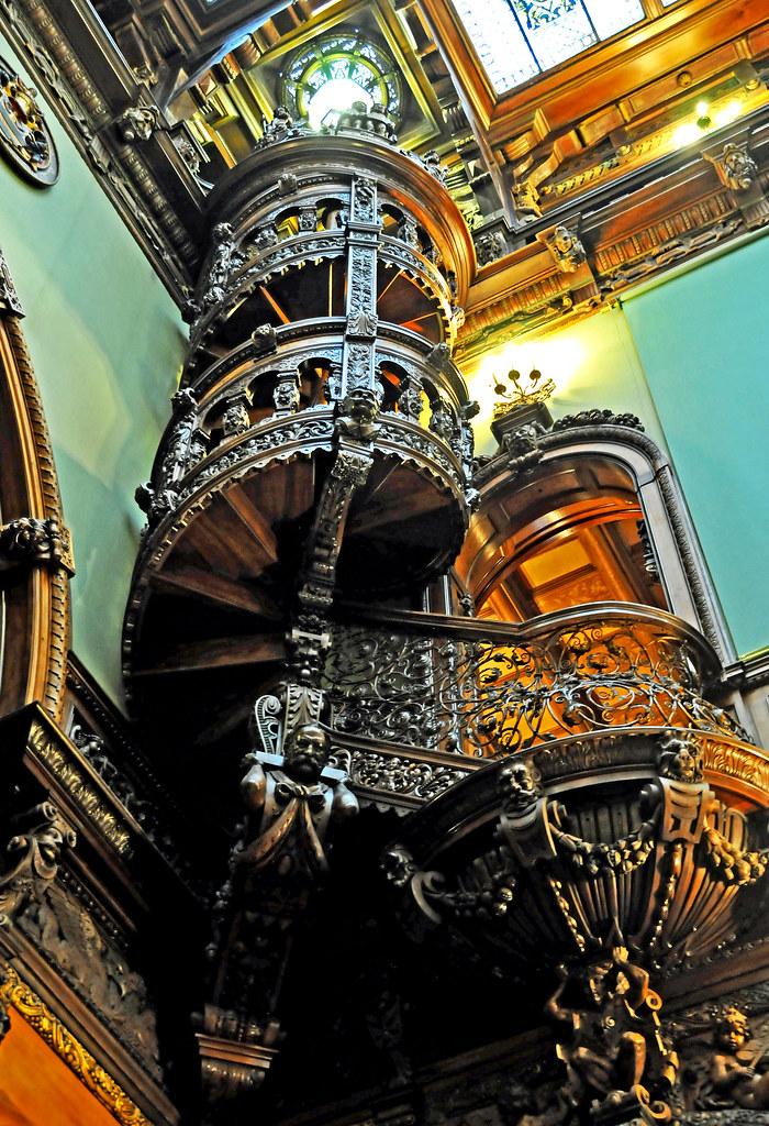 Romania-1535 - Circular Stairway   PLEASE, NO invitations ...