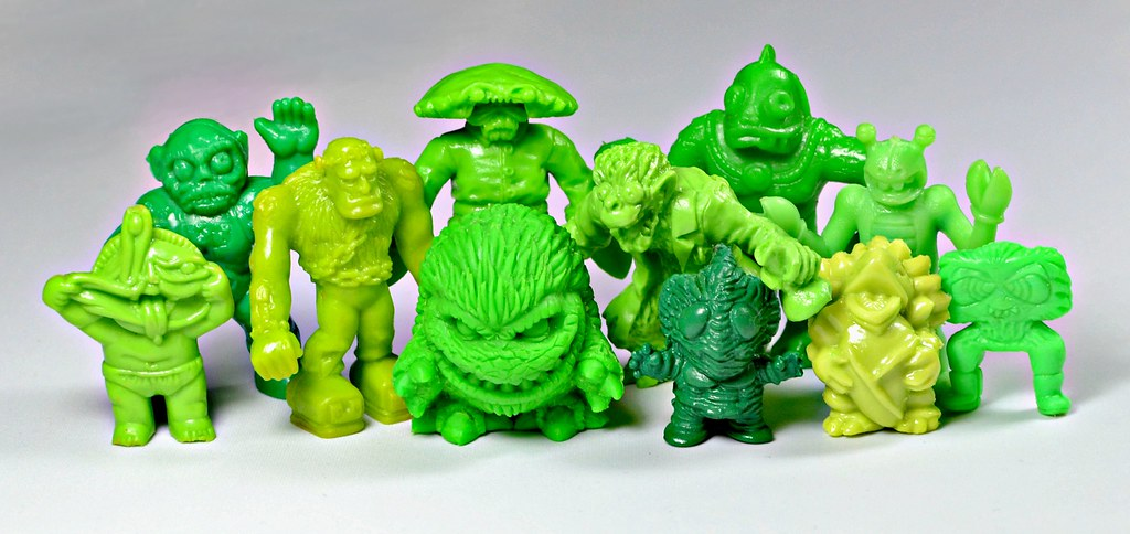 Ghastly Greens A Bunch Of Green Mini Figures Toy Lines