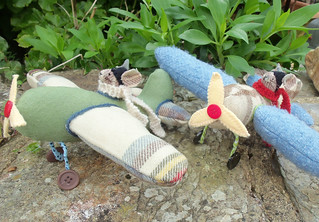 Brave Aviator Mice Softies | by Bustle & Sew