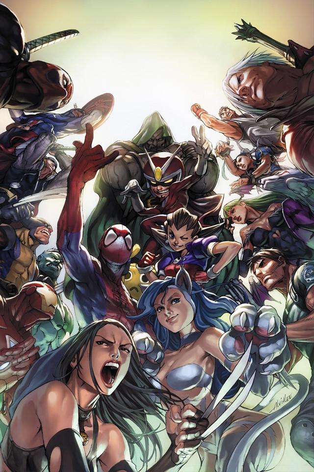 Marvel vs Capcom (lock screen) | keaneoncomics.tumblr.com