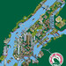 New York Illustration - 101 New York Sights - Tourist Attractions Map for Circle Line Sightseeing Cruises - NYC map Illustration by Rod Hunt - isometric pixel art