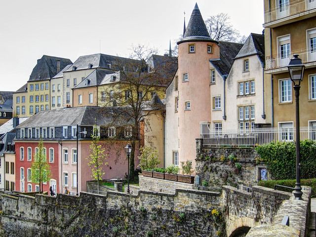 Houses along the grund flickr photo sharing for Luxembourg homes