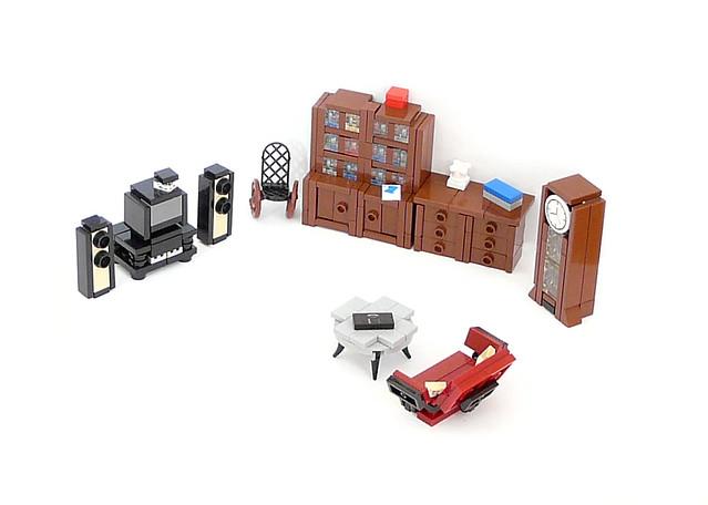 how to make a lego living room