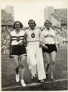 1936 viii unknown berlin - olympics - ibolya csak & elfriede kaun & dorothy odam-tyler - front | by blacque_jacques