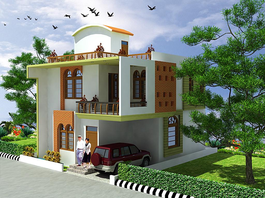 Design gallery 16 01 copy duplex house design apna for Ghar design photo