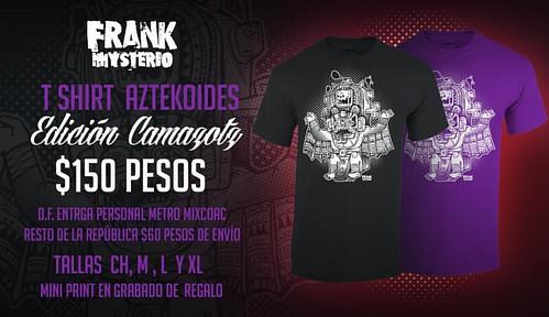 #tshirt #azreca #aztekoides #ilustración #serigrafia #frankmysterio #playeras #ventas