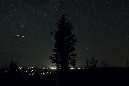 ISS over Laramie, Wyoming
