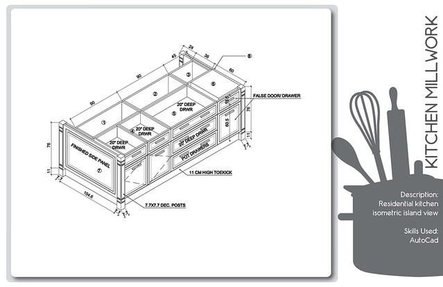 kitchen island production drawing flickr photo sharing