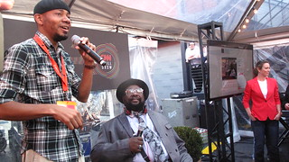 DJ Spooky with George Clinton at the CNN Grill | by joemurphy
