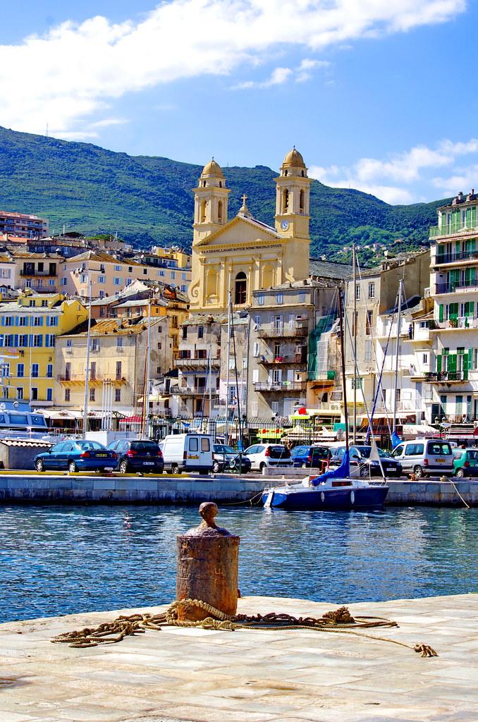 Corse bastia 88 le vieux port et l 39 glise saint jean bap - Vieux port bastia ...