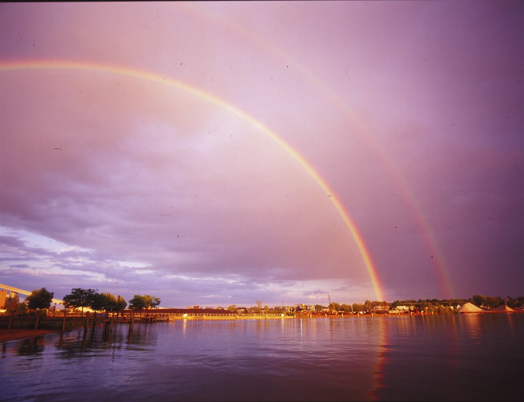 Double Rainbow | Holland, Michigan. Shot on color positive s ...