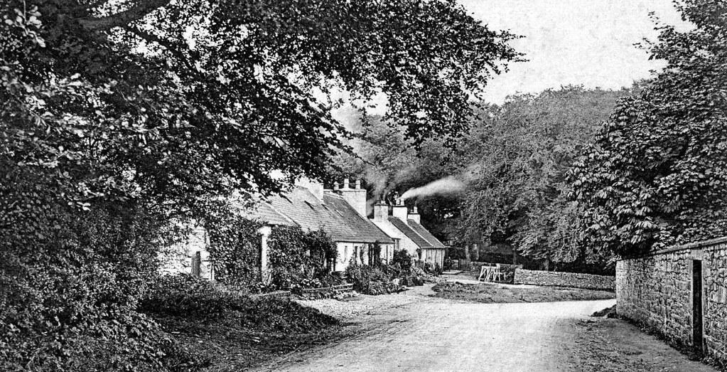 Old Photograph Cottages Castle Douglas Scotland Sandy