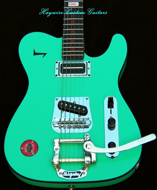 haywire custom guitars surf green tele with lollar pickups and tremolo 2 flickr photo sharing. Black Bedroom Furniture Sets. Home Design Ideas