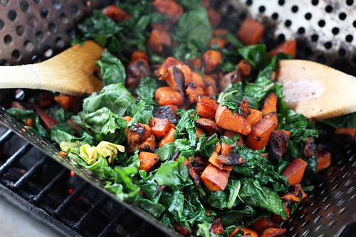 Grilled Sweet Potato and Wilted Kale Salad - Gluten-free + Vegan | by Tasty Yummies