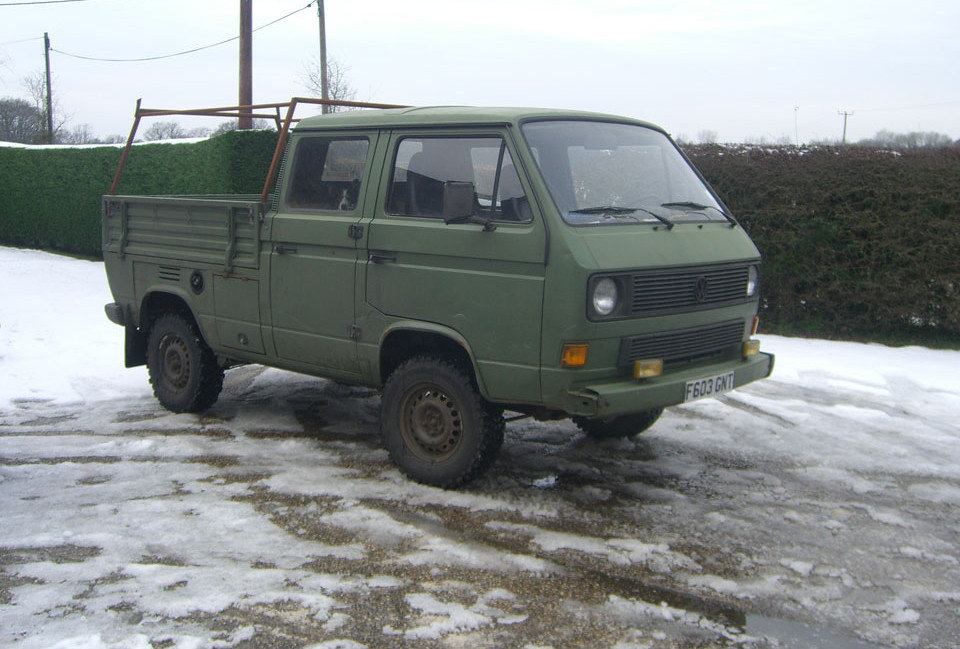 Vw T25 Double Cab T3 Doka Syncro Ex Military Syncro T25 Flickr