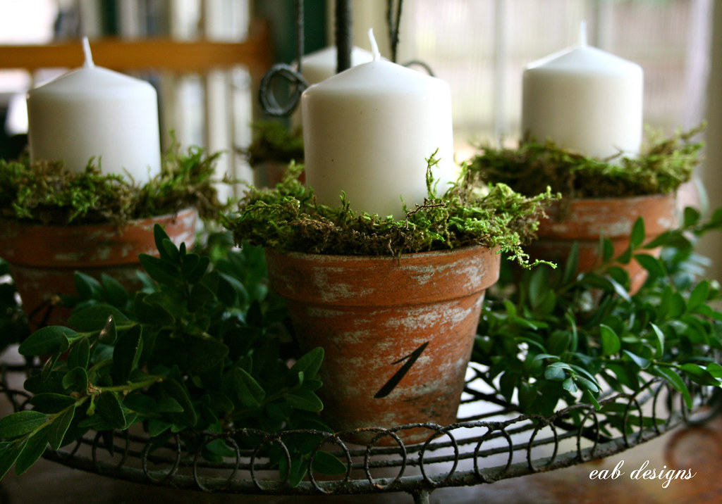 advent candles advent wreath for a tutorial visit www. Black Bedroom Furniture Sets. Home Design Ideas