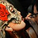 Brian M. Viveros applying the final touches on 'Sweetest Taboo' for SCOPE MIAMI