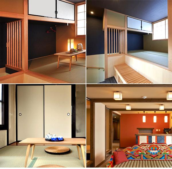 Habitaciones donde nos quedamos a dormir en Kioto para disfrazarnos de Geisha