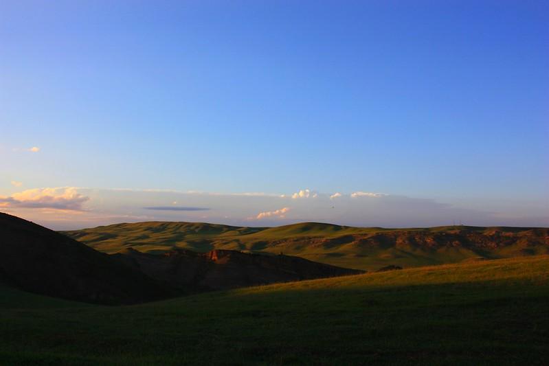 Закат в Давид-Гареджи, Грузия