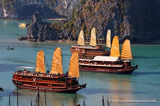 Junk boats in Halong Bay - Vietnam | by My Planet Experience
