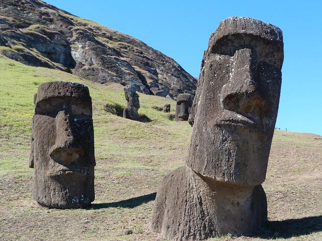 Moáis de Isla de Pascua (impresdincibles que ver en Chile)