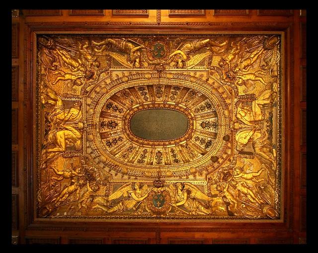 Modele Cuisine Castorama : Plafond de la chambre à alcôve (chambre à coucher de Louis XIV