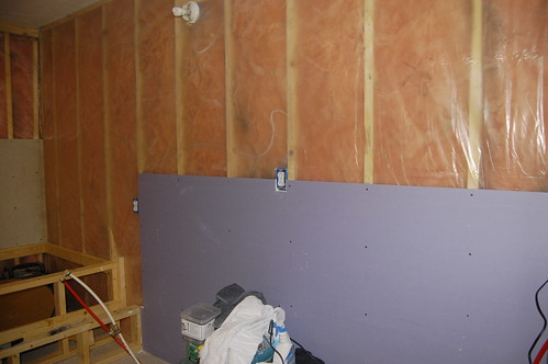 First piece of drywall hung | by kerrberr