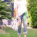 80's eclectic - jeans-white tee
