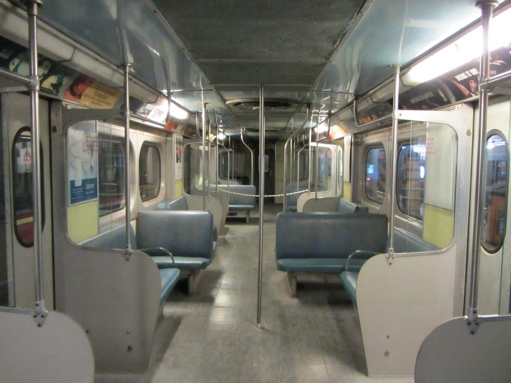 interior montrealer subway car retired ttc m 1 subway c flickr. Black Bedroom Furniture Sets. Home Design Ideas