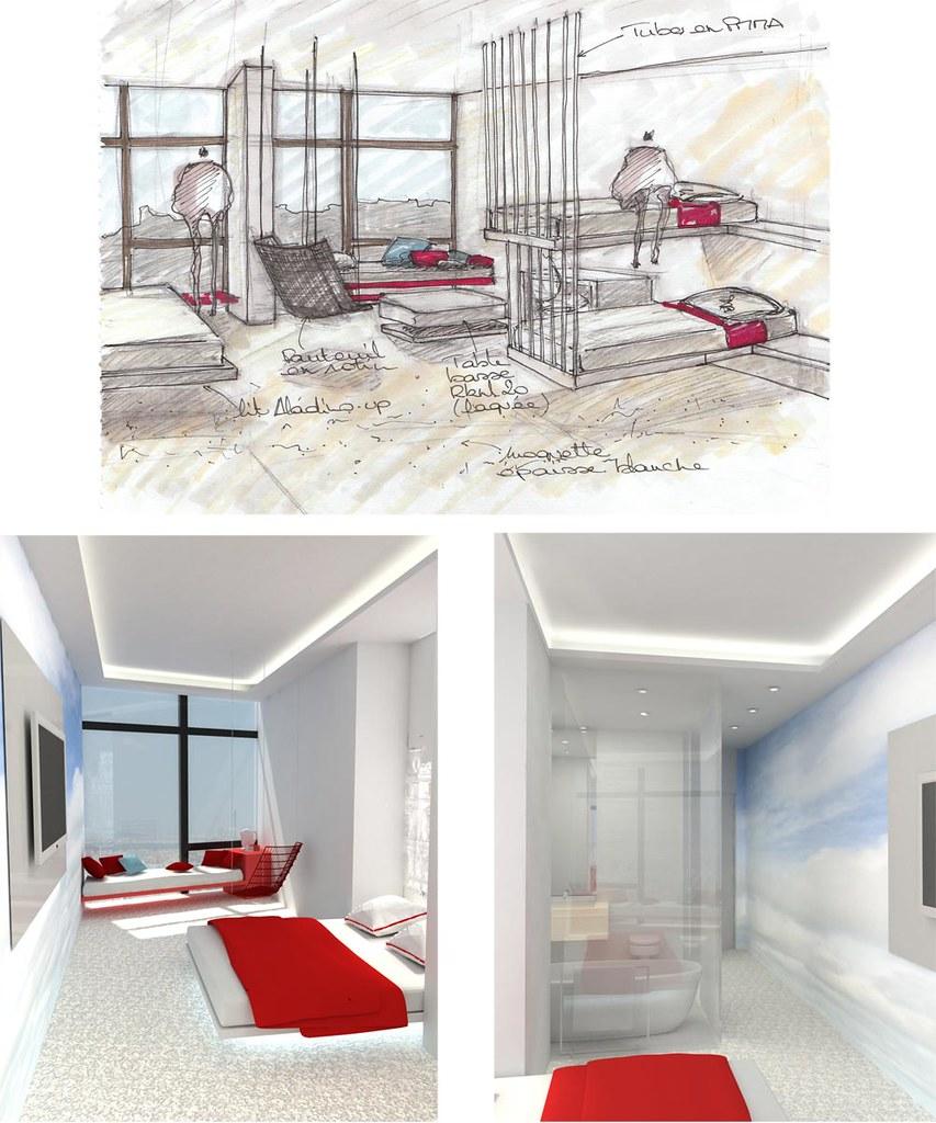 Croquis 3d architecture int rieure design esam desig for Architecture interieur formation