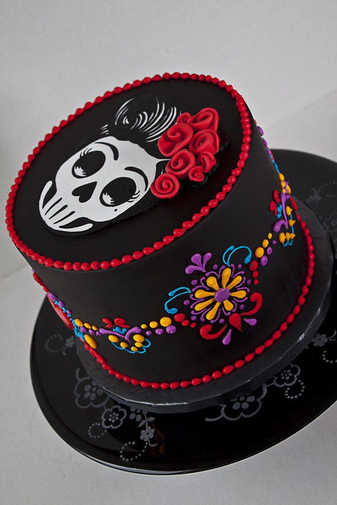 Day Of The Dead Dia De Los Muertos Cake A Day Of The
