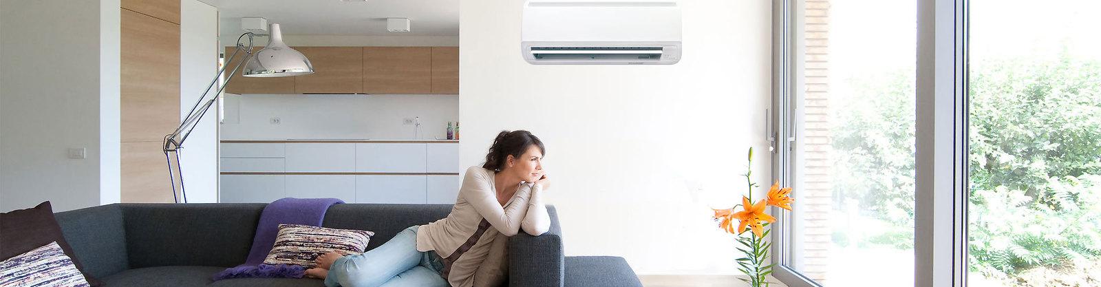 Sala climatizada e ambiente saudável