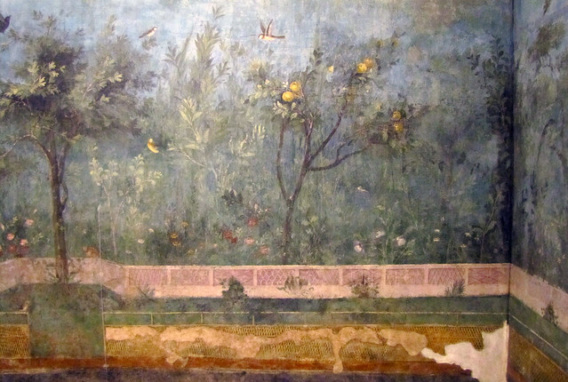 Painted Garden Villa Of Livia Detail With Quince Tree