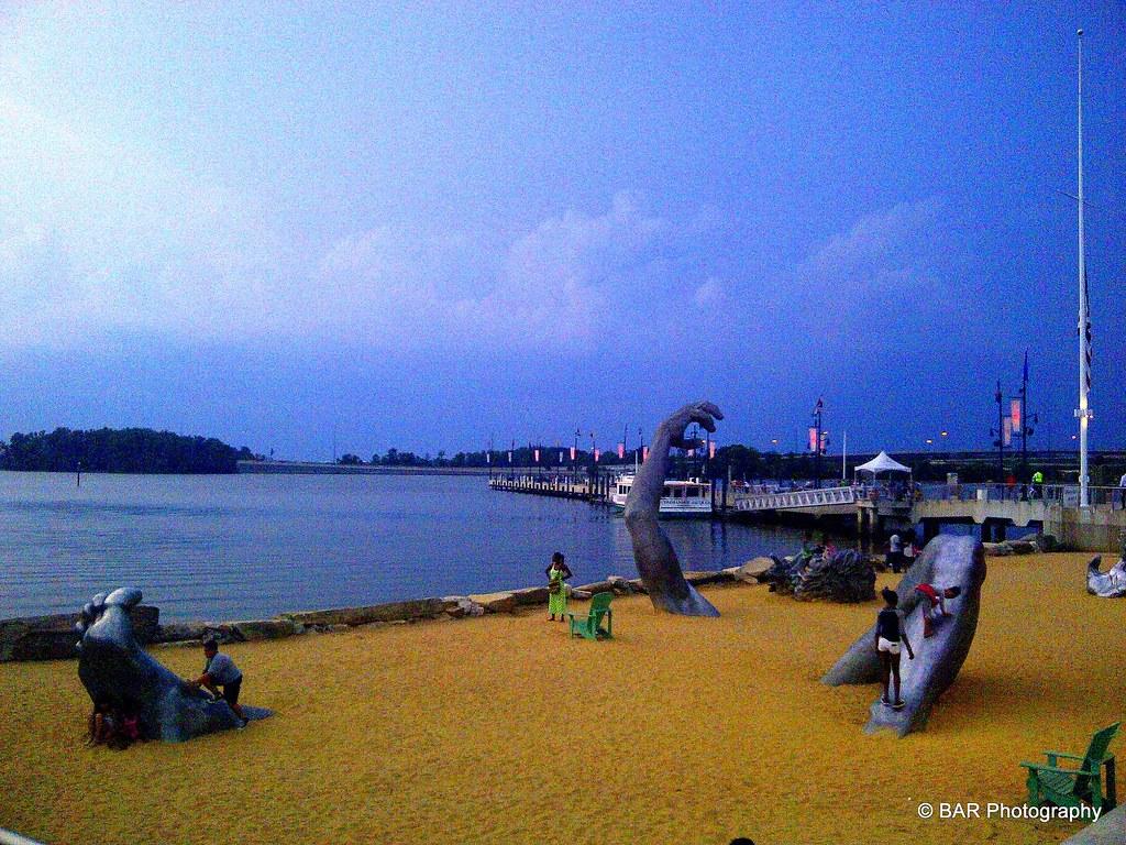 National harbor maryland the awakening statue bar for National harbor statue