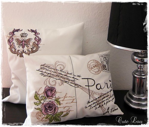 """Loveletters from Paris"" Pillow Set 