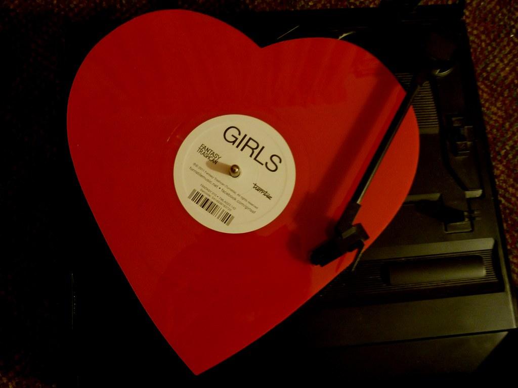 Girls Lawrence Heart Shaped Vinyl Finally Sunday