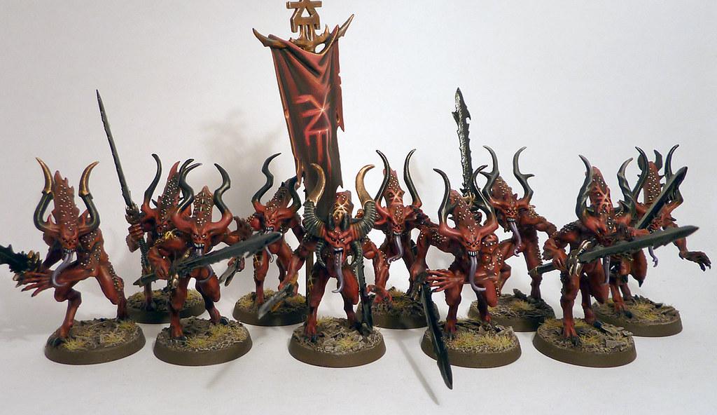 A Cohort Of Bloodletters Of Khorne The Completed Cohort