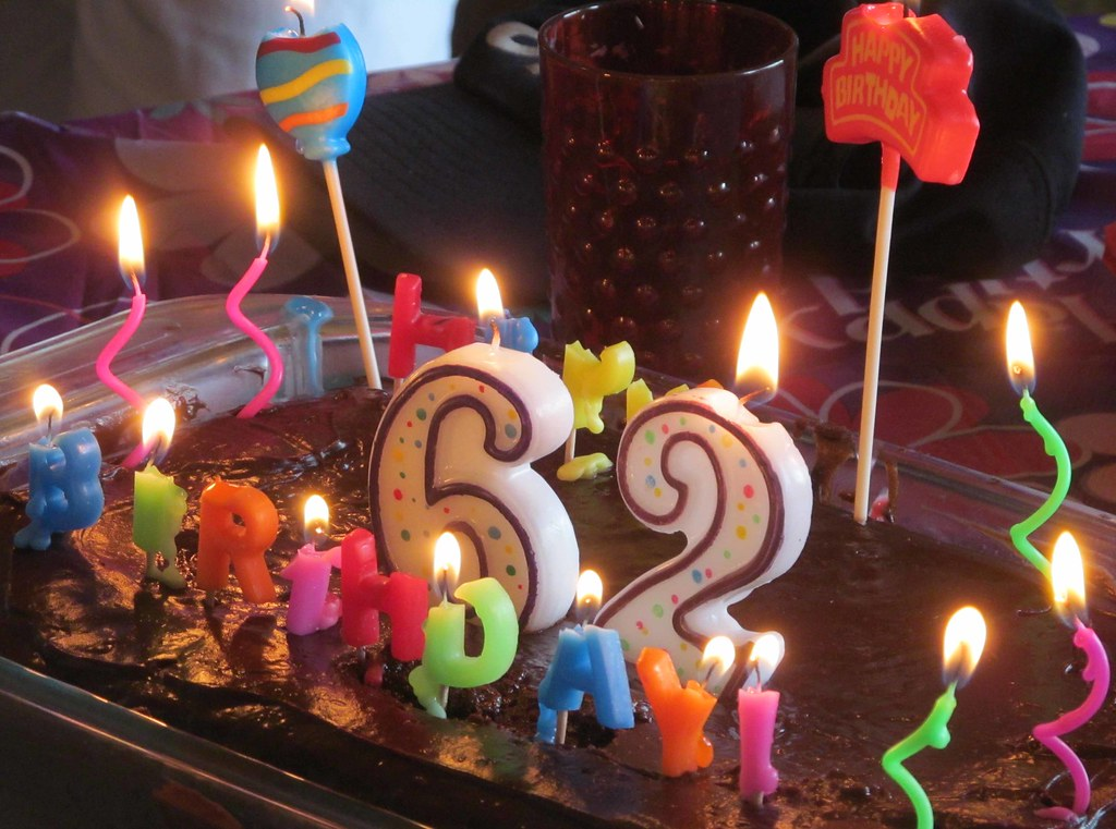 44 Happy 62nd Kaye S Birthday Cake By Mo Candles By