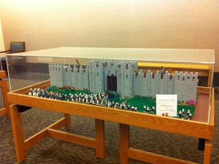 "Library ""LEGO Under Siege"" display 
