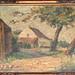 1932 P. J. De Hondt - farmhouse on path oil on canvas on panel