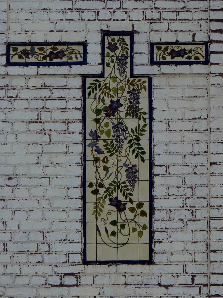 C ramique murale 02 une c ramique murale qui subsiste - Ceramique murale autocollante ...
