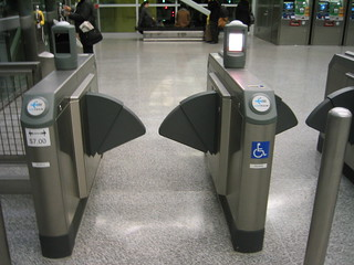 "What the LA Metro ADA gates will look like when ""locked"" 